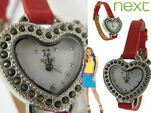 【送料無料】腕時計 ウォッチバッテリー#バレンタインハートボックス next quartz battery, women039;s valentines heart watch boxed bnwt