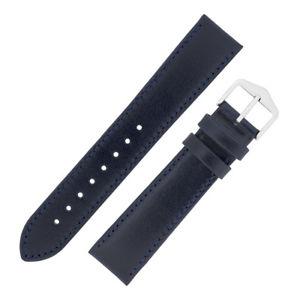 【送料無料】腕時計 ウォッチカーフレザーフラットウォッチストラップhirsch osiris smooth calf leather, flat unpadded watch strap in dark navy blue