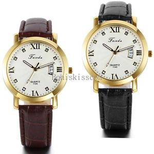 【送料無料】腕時計 ウォッチファッションメンズローマカレンダークォーツアナログfashion mens date calendar leather roman numerals quartz analog wrist watch