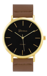 【送料無料】腕時計 ウォッチジュネーブプラチナクォーツゴールドトーンステンレススチールレザーウォッチgeneva platinum womens quartz gold tone stainless steel leather watch 10035