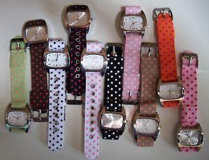 【送料無料】腕時計 ウォッチキャンディーカラーリボンファッションカジュアルウォッチwomensgirls assorted candy colors polka dots ribbon fashion casual watches