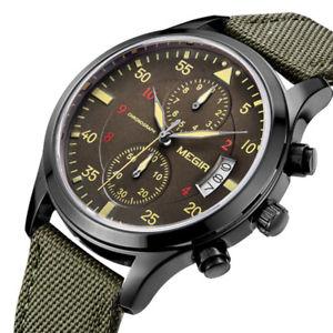 【送料無料】腕時計 ウォッチクロノグラフクオーツカレンダーmegir ml2021g men watch multifunction chronograph quartz watch complete calendar