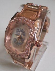 【送料無料】腕時計 ウォッチメンズライトブラウンピンクゴールドドルファッションレザーウォッチmens light brownrose gold finish  sign bling fashion leather watch