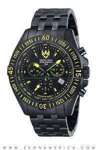 【送料無料】腕時計 ウォッチスイスイーグルブラックサファイアクリスタルスイスクオーツアナログ