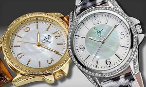 【送料無料】腕時計 ウォッチスーザンクリスタルアクセントアンププリントストラップボックス susan graver animal print strap watch with crystal accents amp; gift box