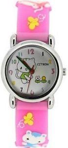 【送料無料】腕時計 ウォッチシトロンバックルピンクネコラバーストラップウォッチ