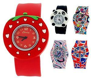 【送料無料】腕時計 ウォッチクリスマスコレクションキッズシリコンスラップthe olivia collection kids silicone slap on watches xmas gift for girls boys