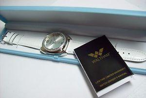 【送料無料】腕時計 ウォッチボックスホワイトレザーレディースウォルサムウォッチladies waltham watch in blue box white leather