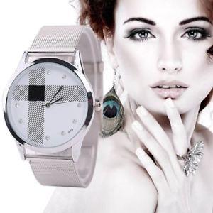 【送料無料】腕時計 ウォッチシルバーメッシュベルトクォーツsilver mesh belt watch womens classic quartz watch