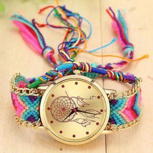 【送料無料】腕時計 ウォッチキャッチャーウォッチクオーツビンテージネイティブハンドメイドvintage women native handmade quartz watch knitted dreamcatcher watch