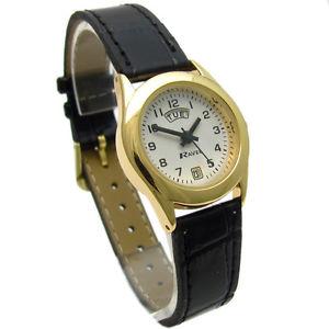 【送料無料】腕時計 ウォッチァーラヴェルレディースデートーンneues angebotravel ladies daydate watch goldtone 0706162