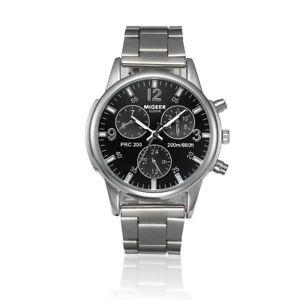 【送料無料】腕時計 ウォッチステンレススチールクオーツウォッチパイロットナビゲータmigeer gents pilot navigator aviation military 40mm stainless steel quartz watch