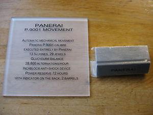 【送料無料】腕時計 ウォッチパネライgenuine panerai p9001 display plaque pam00320 pam00441 pam00438 44mm gmt