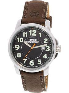 【送料無料】腕時計 ウォッチ#ブラウンレザークォーツスポーツウォッチtimex men039;s expedition t44921 brown leather quartz sport watch