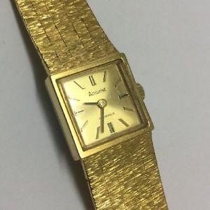 【送料無料】腕時計 ウォッチビンテージジュエルレディースウオッチメーカースイスゴールドvintage accurist 21 jewel ladies wristwatch swiss made gold coloured winds runs