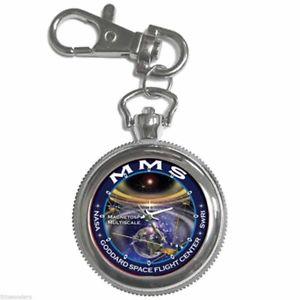 【送料無料】腕時計 ウォッチミッションラウンドシルバーメタルキーチェーンウォッチnasa mms magnetospheric multiscale mission round silver metal key chain watch