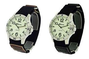 【送料無料】腕時計 ウォッチラヴェルカジュアルナイトグローウォッチナイロンストラップ