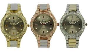 【送料無料】腕時計 ウォッチロンドンレディースセットベゼルメタルウォッチストラップprince london ny ladies coloured metal watch stone set bezel brushed strap 7805