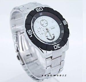 【送料無料】腕時計 ウォッチファッションビジネスストラップelegant luxury stylish fashion business metal wrist watch men boys silver