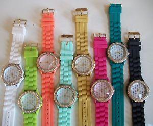 【送料無料】腕時計 ウォッチファッションクロスゼリーシリコンラインストーンゴールドfashion cross jelly silicone rhinestone girls,womens gold trim wrist watches