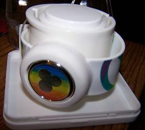 【送料無料】腕時計 ウォッチストラップデジタルウォッチケーススラップslap that strap slap digital watch peace signs rainbow w case