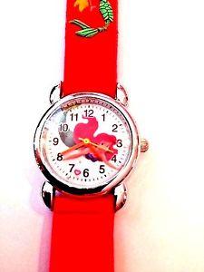 【送料無料】腕時計 ウォッチリトルマーメイドシリコンウォッチneues angebot red little mermaid girls silicone watch 3d