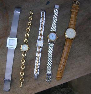 【送料無料】腕時計 ウォッチロットドリップジャンクワントlot de 5 montres lip ,vuillemin regnier,quantieme et un tendancefonctionnent