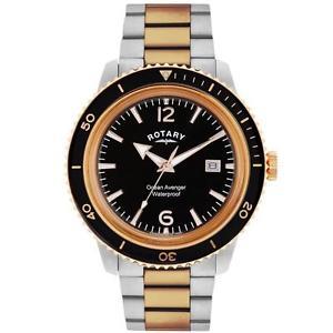 【送料無料】腕時計 ウォッチロータリーウォッチトーンローズメンズrotary gb0269504 mens ocean avenger twotone rose watch rrp 18500