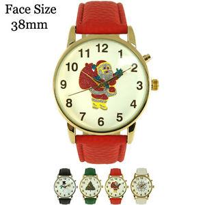【送料無料】腕時計 ウォッチミュージカルクリスマスレザーウォッチmusical christmas leather watch 38mm