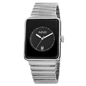 【送料無料】腕時計 ウォッチ#シュタイナートーンケースmen039;s august steiner as8181ssb rectangular silvertone case date display watch