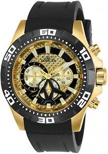 【送料無料】腕時計 ウォッチメンズクォーツクロノゴールドトーンステンレススチールinvicta mens aviator quartz chrono 100m gold tone stainless steel watch 23756