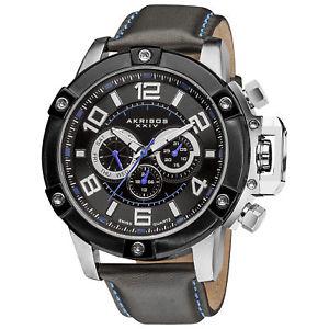 【送料無料】腕時計 ウォッチメンズネジブラックレザーストラップウォッチ