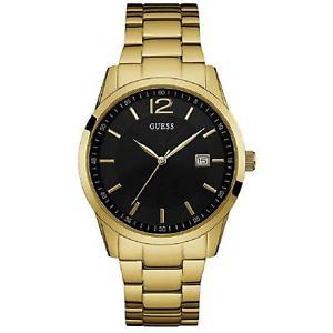 【送料無料】腕時計 ウォッチゲスメンズペリーゴールドトーンスチールブレスレットケースクオーツウォッチguess mens perry 45mm goldtone steel bracelet amp; case quartz watch w0901g2