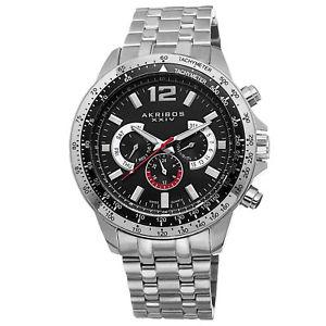 【送料無料】腕時計 ウォッチタキメーターステンレススチールウォッチ mens akribos xxiv ak653ssb day amp; date tachymeter stainless steel watch