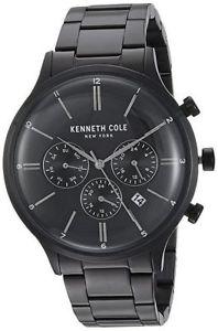 【送料無料】腕時計 ウォッチメンズケネスマルチファンクションブラックスチールブレスレットウォッチ