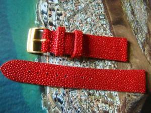 【送料無料】腕時計 ウォッチベラアンサロッソイタリアストラップcinturino in vera razza, ansa 18 mm colore rosso made italy strap watch