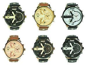 【送料無料】腕時計 ウォッチロンドン#デュアルタイムレザーストラップタイムゾーンアナログクォーツny london men039;s dual time pu leather strap two time zone watch analog quartz