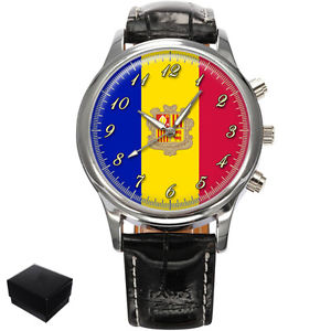 【送料無料】腕時計 ウォッチアンドラメンズフラグprincipality of andorra flag gents mens wrist watch gift engraving