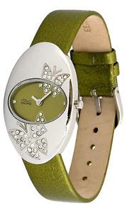 【送料無料】腕時計 ウォッチパリオリーブオリーブブレスレットスワロフスキーエレメントmoog paris montre femme avec cadran olive, elments swarovski, bracelet olive