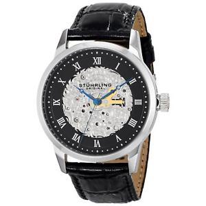 【送料無料】腕時計 ウォッチメンズブラックカーフスキンウォッチ