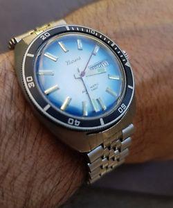 【送料無料】腕時計 ウォッチヴィンテージステンレススチールダイバーウォッチブレスレットvintage montre bracelet plongeuse diver watch reloj 1970 stainless steel