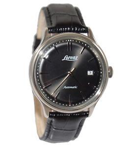 腕時計 ウォッチデータlorenz lz30026 orologio automatico uomo pelle nero data listino 329 sottocosto