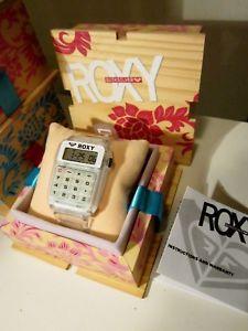 【送料無料】腕時計 ウォッチハワイクリアアラームレトロvtg nos roxy clear quiksilver hawaii calculator alarm watch~retro 1983
