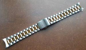 【送料無料】腕時計 ウォッチトーンスチールストラップデュアルmmmm enicar 2 tone steelgold plated gents strap dual usage 18mm 8mm curved end