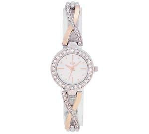 【送料無料】腕時計 ウォッチスピリットレディース#シルバーローズゴールドストーンレディースブレスレットセットspirit ladies039; silver and rose gold stone set bracelet watch gift for ladies