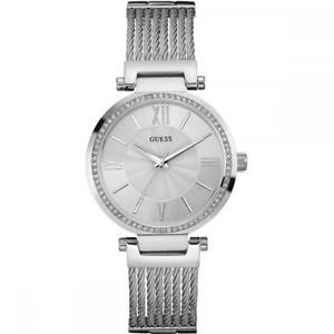 【送料無料】腕時計 ウォッチソーホースワロフスキーシルバーorologio donna guess soho w0638l1 bracciale acciaio swarovski silver