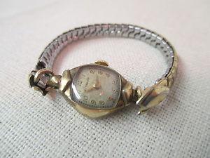 【送料無料】腕時計 ウォッチビンテージレディースkゴールドウィットvintage wittnauer ladies wrist watch 10k gold filled 17 jewels