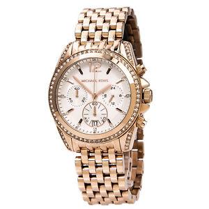 【送料無料】腕時計 ウォッチミハエルプレスリークロノローズゴールドスチールウォッチmichael kors mk5836 womens pressley chrono rose gold steel watch