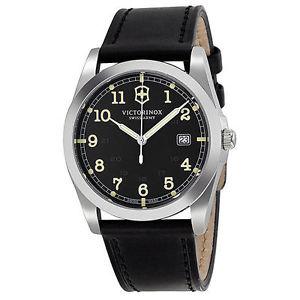 【送料無料】腕時計 ウォッチスイスブラックレザーストラップメンズウォッチ