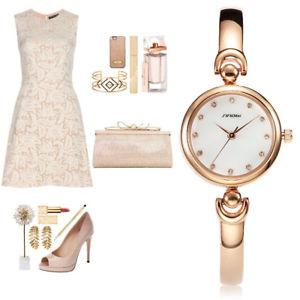 【送料無料】腕時計 ウォッチファッションブレスレットトップsinobi fashion women golden bracelet watches top luxury watches women females ge